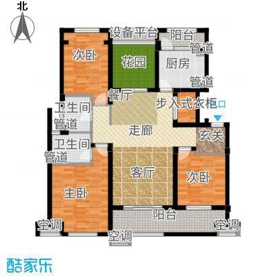 九龙仓碧堤半岛140.00㎡B户型3室2厅