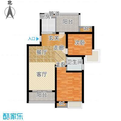 中铁诺德誉园88.00㎡B-1户型2室2厅