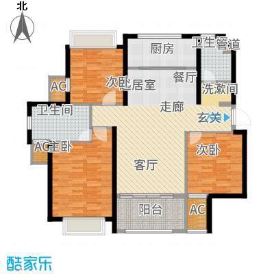 雅戈尔太阳城缘邑114.00㎡户型3室2厅
