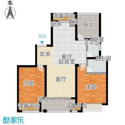 运河公馆120.00㎡高层标准层C2户型3室2厅