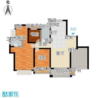 运河公馆152.00㎡高层标准层F户型4室2厅