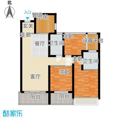 龙湖时代天街113.00㎡A7-2户型3室2厅
