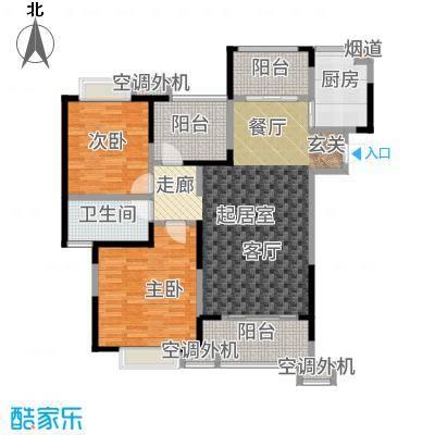天鸿尹山湖韵佳苑108.00㎡C1户型2室2厅