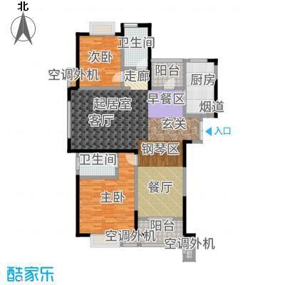 天鸿尹山湖韵佳苑114.00㎡5#标准层0B3户型2室2厅