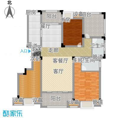 鑫苑湖居世家140.00㎡D2户型3室2厅