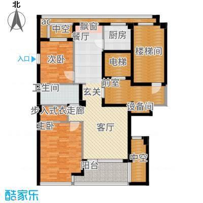 绿城百合花园98.00㎡D6#楼A1户型2室2厅