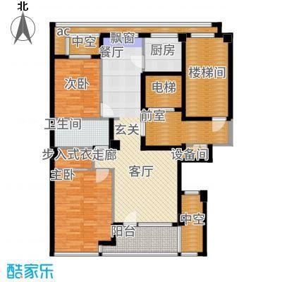 绿城百合花园98.00㎡D3#楼A1户型2室2厅