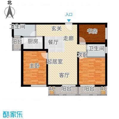 丁豪广场120.00㎡户型3室2厅