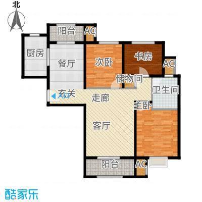 中铁逸都国际117.00㎡8#楼C1户型3室2厅