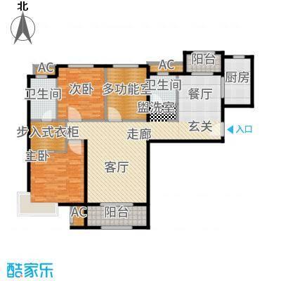中铁逸都国际135.00㎡户型3室2厅