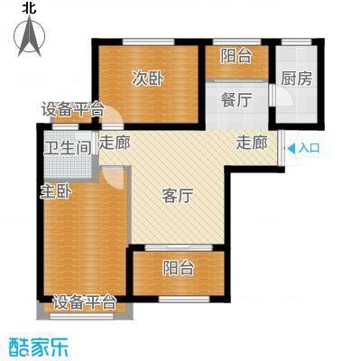 鲁邦奥林逸城G1户型2室2厅