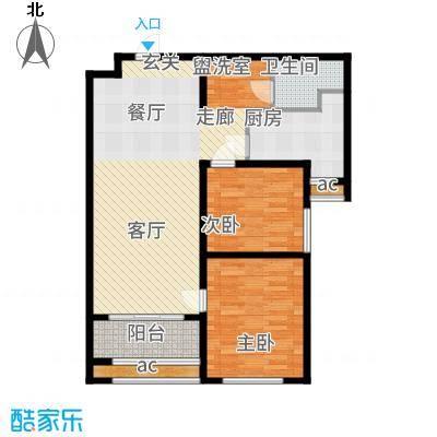 广厦聚隆广场90.00㎡1#楼B7户型2室2厅