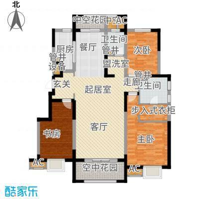 华润仰山红叶林143.00㎡6#楼A1户型3室2厅
