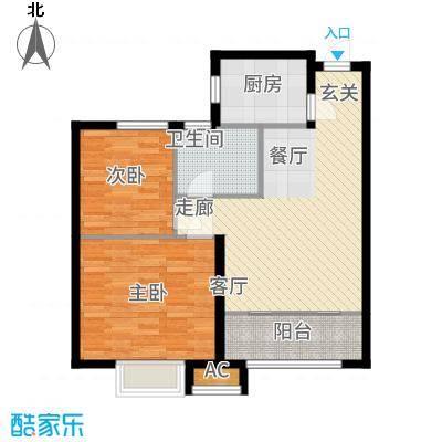 中建新悦城72.00㎡H1户型2室2厅