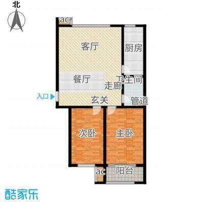 广厦聚隆广场114.00㎡2#楼B10户型2室2厅