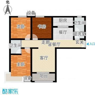 茗美花园135.00㎡3#楼G户型3室2厅