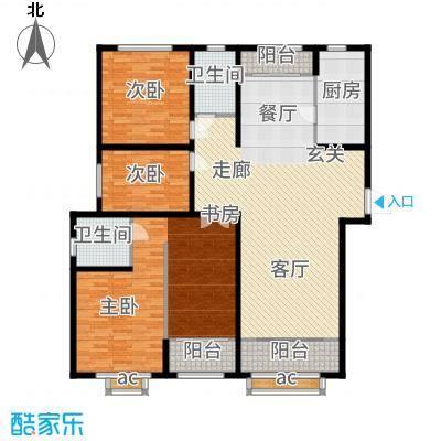 广厦聚隆广场171.00㎡2#楼C8户型3室2厅