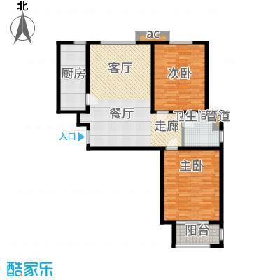 广厦聚隆广场104.00㎡1#楼B8户型2室2厅