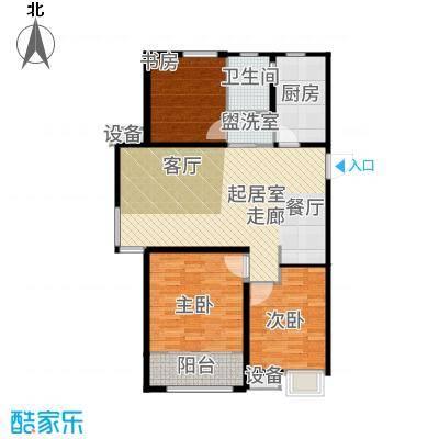 中建新悦城102.00㎡Dla户型3室2厅