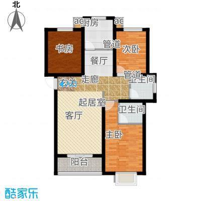 外滩森林115.28㎡4号楼1、2单元A户型3室2厅