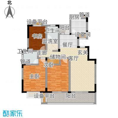 红豆尚东院135.00㎡W户型3室2厅