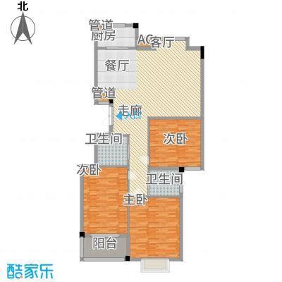 天力百好锦园143.02㎡阔景小高层户型3室2厅