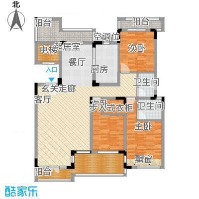 蠡湖一号135.00㎡花园洋房Y2h-1户型3室2厅
