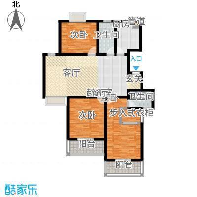 红豆尚东院135.00㎡观景怡情小高层B户型3室2厅