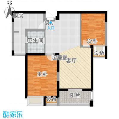 百乐广场93.97㎡百乐时代广场G6户型2室2厅