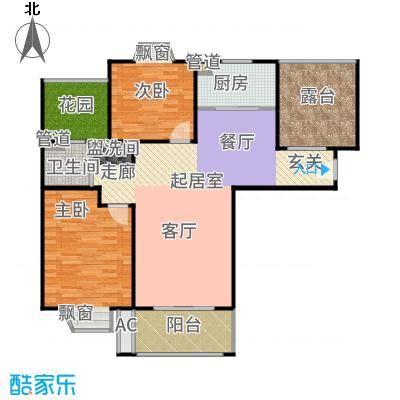 恒盛第一国际110.00㎡三期锦域1户型2室2厅