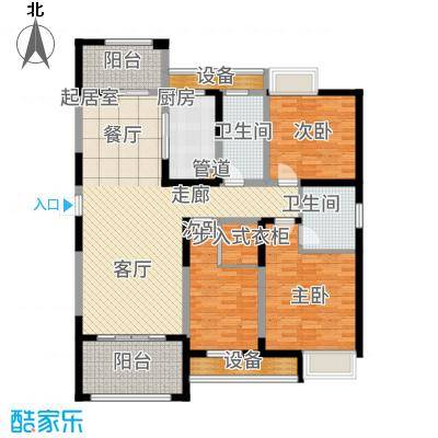百乐广场136.83㎡百乐时代广场G2户型