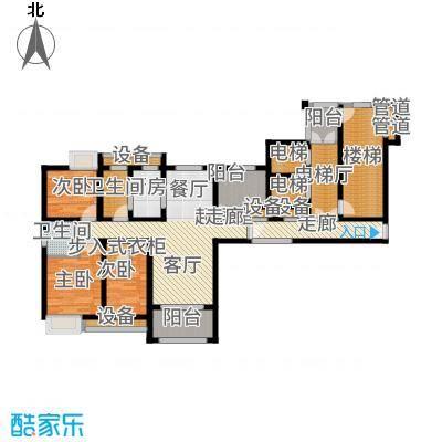 百乐广场136.83㎡10#楼西边G7户型3室2厅