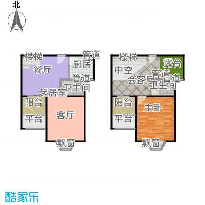 恒盛第一国际113.00㎡三期荣域1户型1室3厅