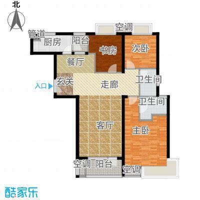 融科玖玖城121.79㎡高层G1户型3室2厅