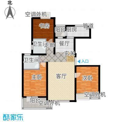 融科玖玖城131.25㎡高层I1户型3室2厅