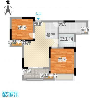 太湖国际社区89.00㎡C2户型2室2厅