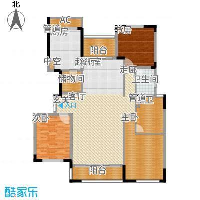 太湖锦园161.00㎡方户型3室2厅