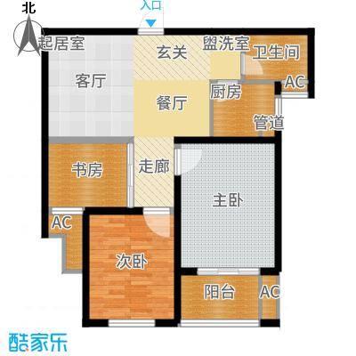 栖霞东方天郡89.00㎡F1户型3室2厅