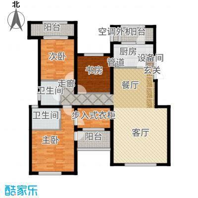 融科玖玖城138.70㎡二期九玺D2户型3室2厅