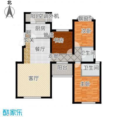 融科玖玖城134.93㎡二期九玺E5户型3室2厅