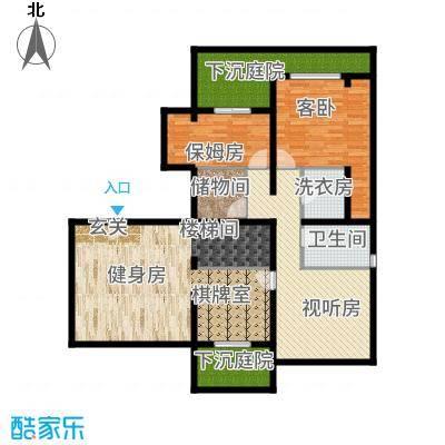 融科玖玖城129.46㎡A3跃层户型4室2厅