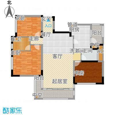 太湖锦园143.00㎡宽景公寓B6户型3室2厅
