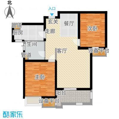 太湖国际社区89.13㎡聆湖D2户型2室2厅
