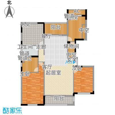 太湖锦园167.00㎡方户型3室2厅