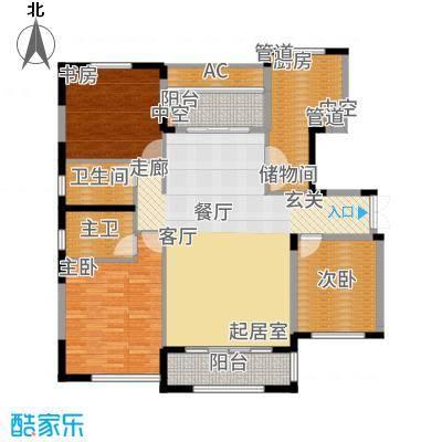 太湖锦园134.00㎡宽景公寓B1户型3室2厅