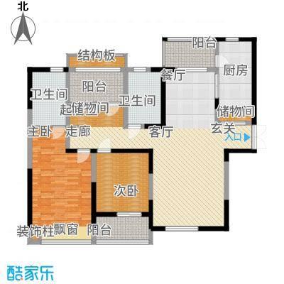 天安曼哈顿145.00㎡户型3室2厅
