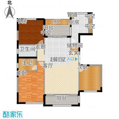 太湖锦园145.00㎡宽景公寓B5户型3室2厅
