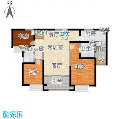 红豆人民路九号126.00㎡12号楼B户型3室2厅