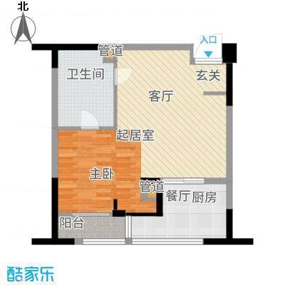 长江国际朗庭59.00㎡长江国际花园2期D2户型1室1厅