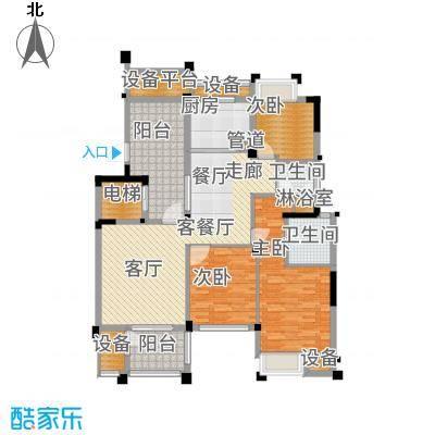 长江国际朗庭129.00㎡长江国际花园B2户型3室2厅